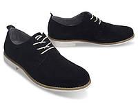 Мужские туфли черного цвета из натуральной кожи!