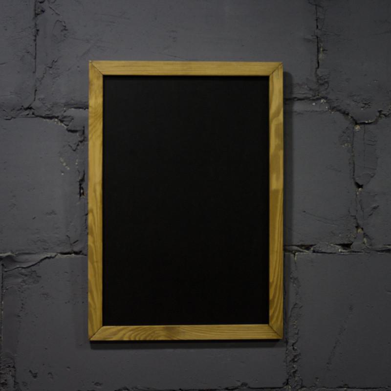 Меловая доска в рамке по индивидуальным размерам от 10х10 см до 200х200 см в рамке, на канате, без рамки Меню
