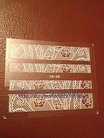 Наклейки на ногти 3Д кружева, фото 1
