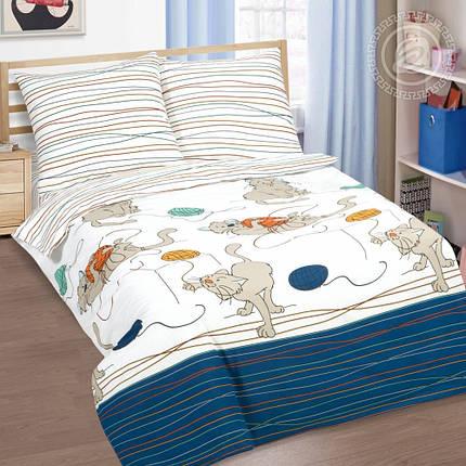 Постельное белье Мягкие лапки поплин ТМ Комфорт текстиль евро, фото 2
