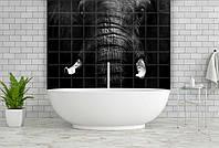 Керамическая фотоплитка Print Color Чёрно-Белые Слоны
