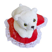 Мягкая игрушка Медвежонок Кроха на сердце Люблю тебя