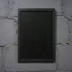 Меловая доска в рамке вертикально 1700х900 мм Меню для кафе, заведения. Рекламное меню, меловая доска для меню
