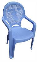 Детское кресло пластиковое Утенок голубое