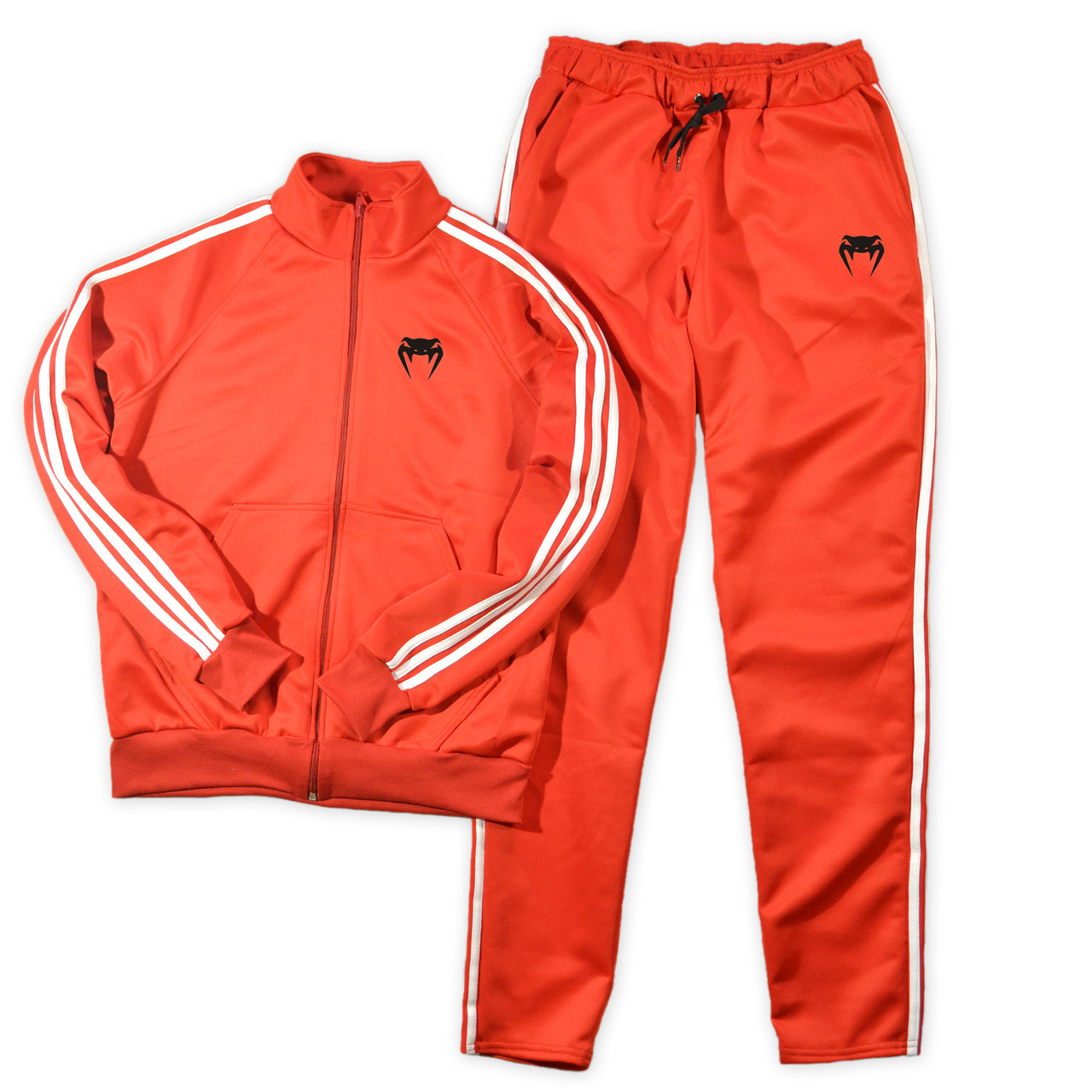 Красный спортивный костюм Venum с лампасами (Венум)