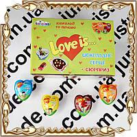 Яйцо-сердце Джой  Love Is  (шоколад + печенье) 15 гр. 24 шт./уп.