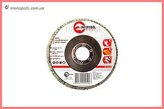 Круг лепестковый торцевой Intertool - 125 мм, Р100, фото 2