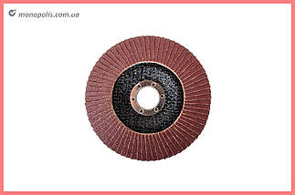 Круг лепестковый торцевой Intertool - 125 мм, Р100, фото 3