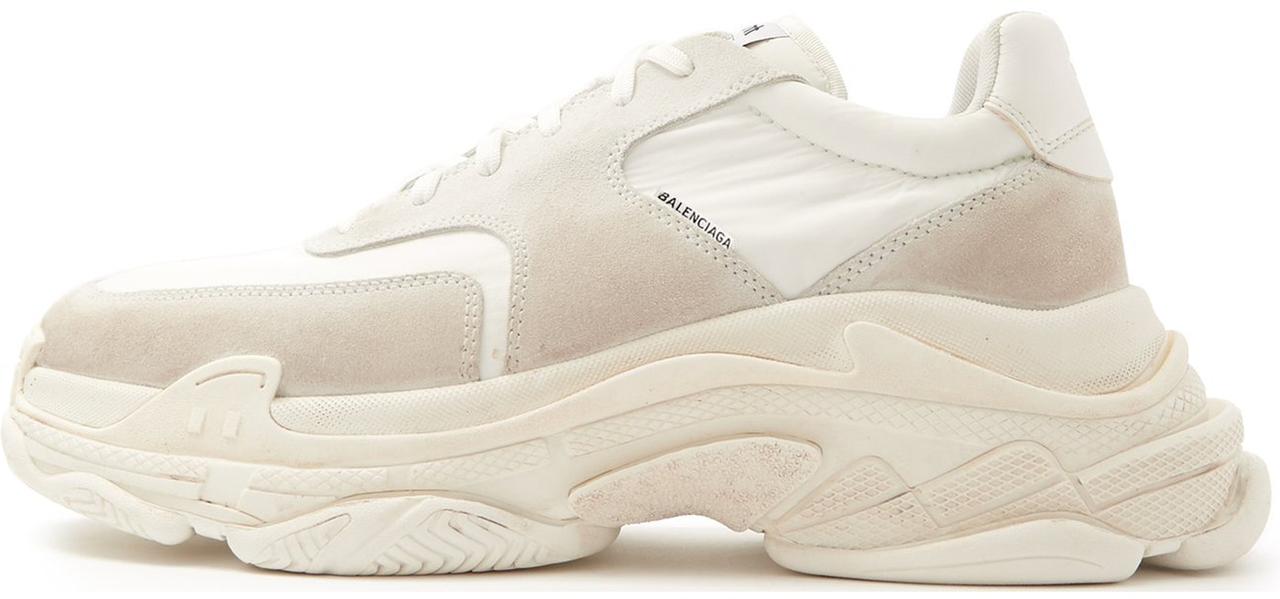 Мужские кроссовки Balenciaga Triple S White Ecru 506346 W09T1 9000, Баленсиага Трипл С