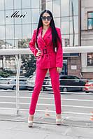 Женский стильный костюм:пиджак+брюки ,много расцветок