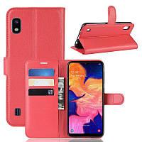Чехол IETP для Samsung A10 2019 / A105F книжка кожа PU красный