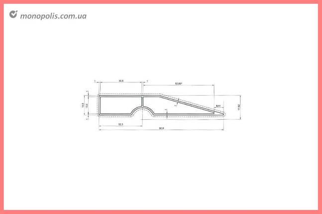 Правило трапециевидное Intertool - 2000 мм, фото 2