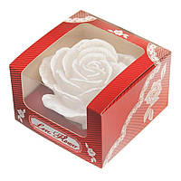 Ароматизированная свеча Роза, цвет Белый - su 62000206