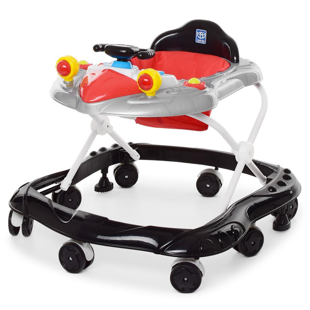Ходунки детские с музыкой и светом M 4075 Черный Гарантия качества Быстрая доставка