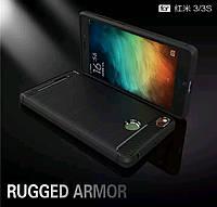 Чехол TPU Carbon для Xiaomi Redmi 3S / 3 Pro силіконовый Ipaky на ксиоми редми 3с 3 про Soft Touch