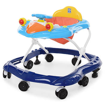 Ходунки детские с музыкой и светом M 4075 Синий Гарантия качества Быстрая доставка