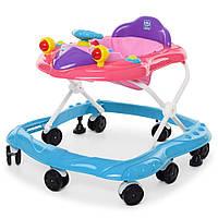 Ходунки детские с музыкой и светом M 4075 Голубой Гарантия качества Быстрая доставка