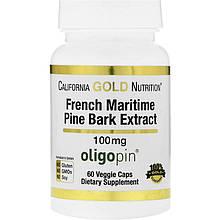 "Французский экстракт коры приморской сосны California GOLD Nutrition ""French Maritime Pine"" 100 мг (60 капсул)"