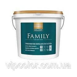 Kolorit Family матовая акрилатная краска для интерьера А 4,5л