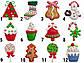 Елочная Новогодняя сувенирная фигурка Снеговик, полирезин, 8см, (000661-4), фото 2
