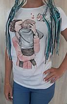 """Женская футболка с рисунком """"One Love"""", фото 3"""