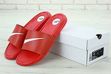 Nike Slippers Red, мужские шлепанцы найк. ТОП Реплика ААА класса., фото 3