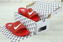 Nike Slippers Red, мужские шлепанцы найк. ТОП Реплика ААА класса., фото 2