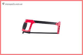 Ножовка по металлу Intertool - 300 мм, алюминиевая ручка, фото 2