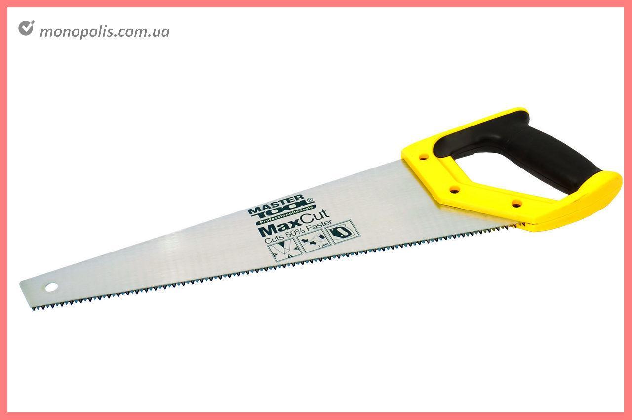 """Ножовка по дереву Mastertool - 400 мм, 7T х 1"""" х 3D (тройная заточка)"""