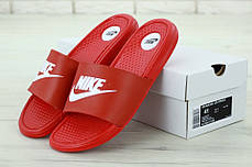 Nike Slippers Red, мужские шлепанцы найк. ТОП Реплика ААА класса., фото 2