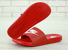 Nike Slippers Red, мужские шлепанцы найк. ТОП Реплика ААА класса., фото 3