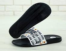 Nike just du it, мужские шлепанцы найк. ТОП Реплика ААА класса., фото 3