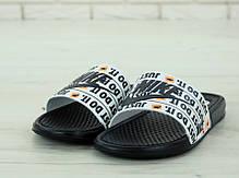 Nike just du it, мужские шлепанцы найк. ТОП Реплика ААА класса., фото 2