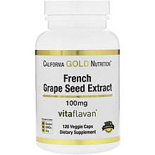 "Экстракт виноградных косточек California GOLD Nutrition ""French Grape Seed Extract"" 100 мг (120 капсул)"
