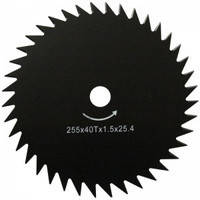 Нож для мотокосы WERK  255*25,4*1,6*40Т, фото 1