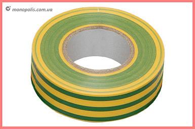 Лента изоляционная Apro - 10 м x 17 x 0,14 мм, желто-зеленая