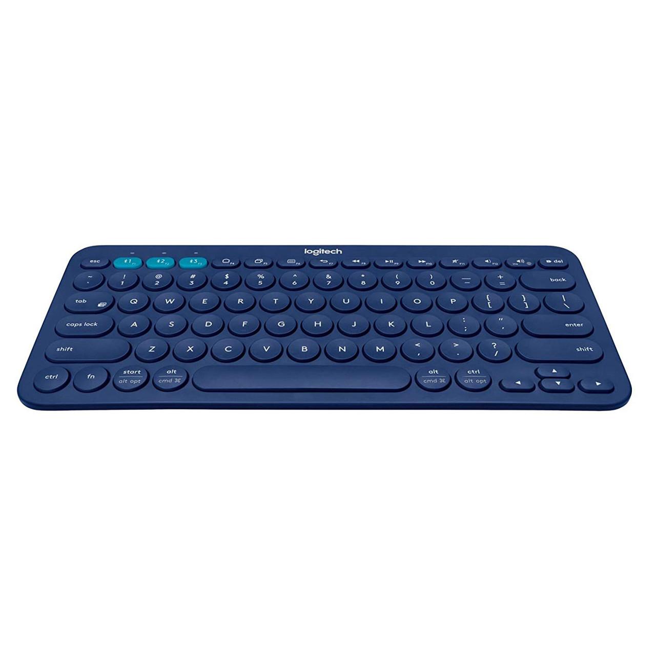 Клавиатура Bluetooth Logitech K380 немецкая синяя