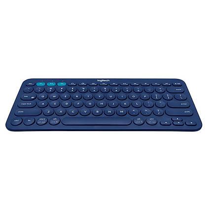 Клавиатура Bluetooth Logitech K380 немецкая синяя, фото 2