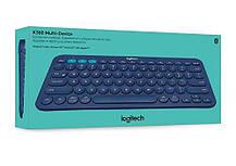 Клавиатура Bluetooth Logitech K380 немецкая синяя, фото 3