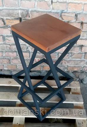Барные стулья в стиле лофт. На металлической основе. Барный  табурет. Стул для кофейни., фото 2
