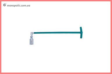 Ключ свечной Т-образный с шарниром Intertool - 21 x 500 мм