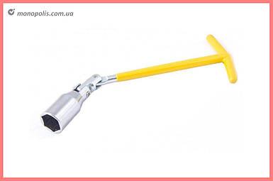 Ключ свечной Т-образный с шарниром Mastertool - 21 x 250 мм