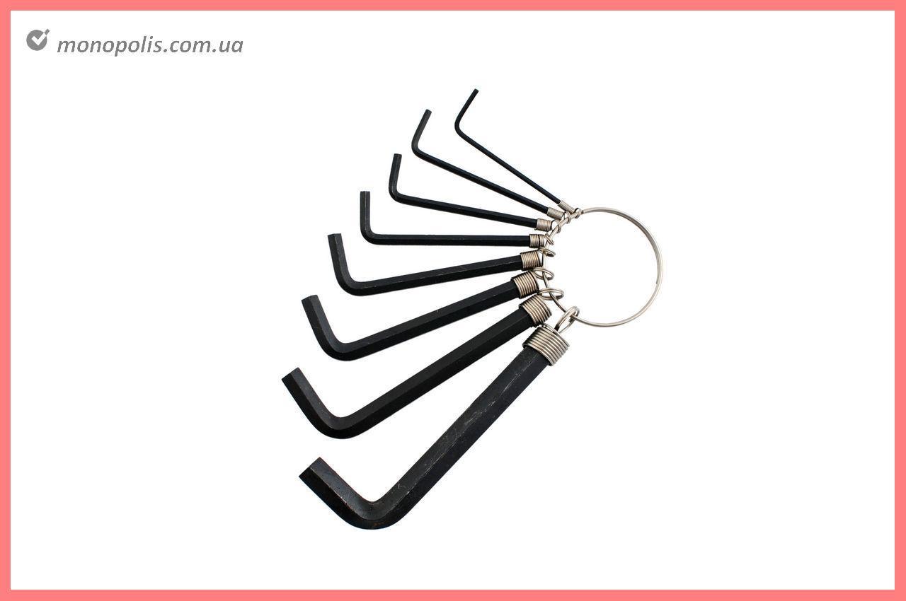 Набор шестигранных ключей Intertool - 8 шт., черные