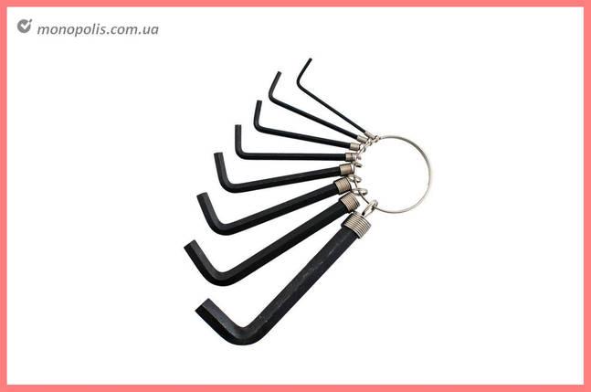 Набор шестигранных ключей Intertool - 8 шт., черные, фото 2