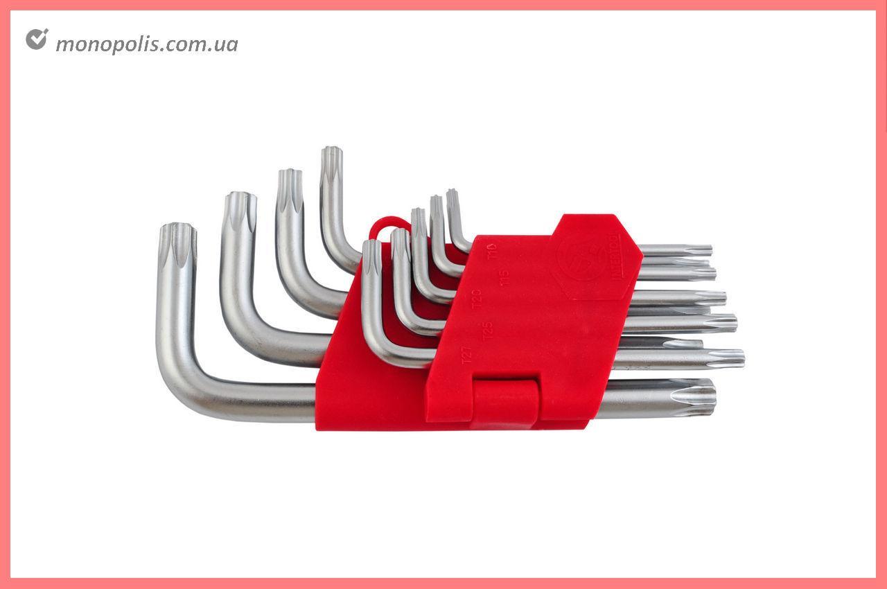 Набор Torx ключей Intertool - 9 шт., с отверстием
