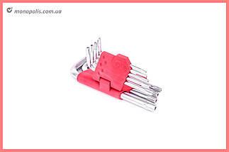 Набор Torx ключей Intertool - 9 шт., с отверстием, фото 2