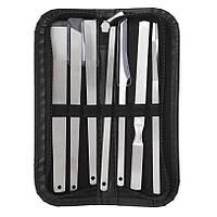 Инструменты для педикюра профессиональные набор 7 предметов+футляр
