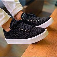 Мужские кроссовки Def леопард черно-белые