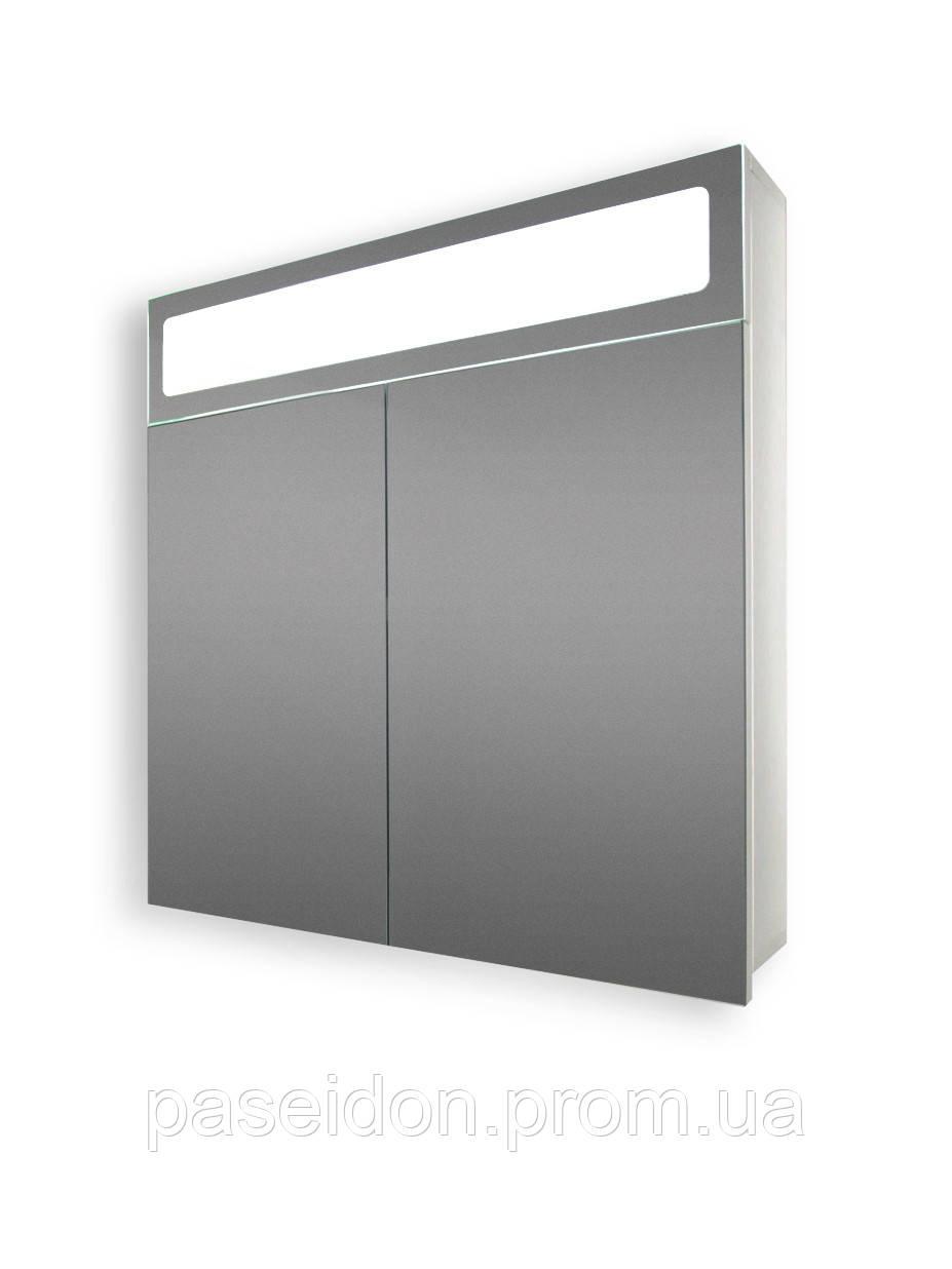 Панорамный зеркальный шкаф