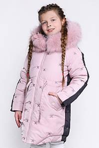 Детский зимний пуховик для девочки DT-8277- 15